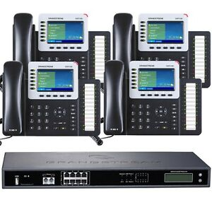 Business Phone System By Grandstream 8 Line Ultimate Package With Ip Phones