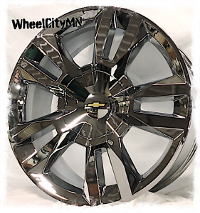 22 X9 Inch Chrome 2019 Chevy Tahoe Rst Silverado Ltz Oe Replica Wheels 6x5 5 24