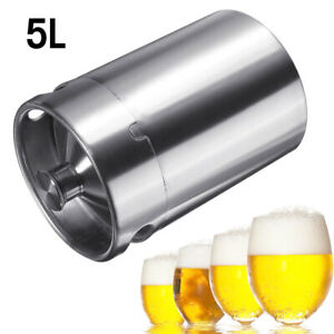 5l 170oz Stainless Steel Keg Bottle Growler Craft Beer Wine Brew Barrel Homebrew