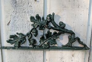 Vintage Wrought Iron Architectural Piece Oak Leaves Acorns 17 3 4 X 7