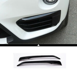 Black Front Head Fog Lamp Cover Trim Molding Accessories For Bmw X1 F48 2016 19