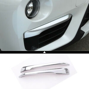 Silver Front Head Fog Lamp Cover Trim Molding Accessories For Bmw X1 F48 2016 19