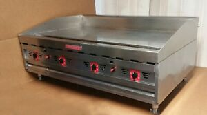 Magikitch n Mkg48 Commercial Gas Griddle 48 Chrome