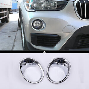 Chrome Car Front Fog Light Lamp Cover Trim Accessories For Bmw X1 F48 2016 2019