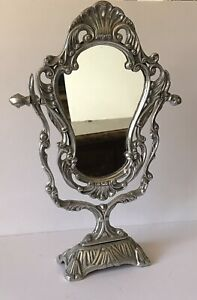 Beautiful Table Mirror French Style Made Of Pewter