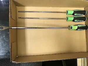 Snap On Long Screwdriver And Trim Tool Set Soft Handle Instinct Green