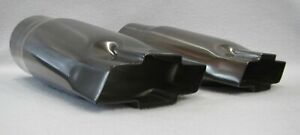 Black Chrome 2 25 Inlet Chevy Bowtie Exhaust Tips Pair