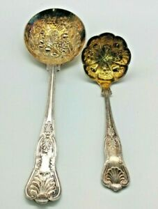 England Sheffield Original Kings Silver Plate Solid Casserole Spoon