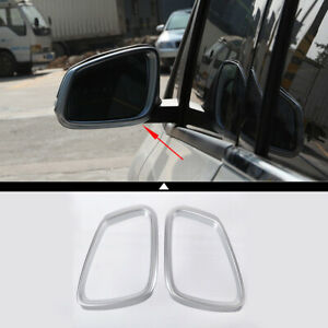 Car Exterior Rearview Mirror Trim Frame Accessories Abs For Bmw X1 F48 2016 2019