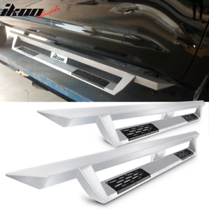 Fits 07 19 Toyota Tundra Crew Max Ikon V1 Style Steel Running Boards Silver