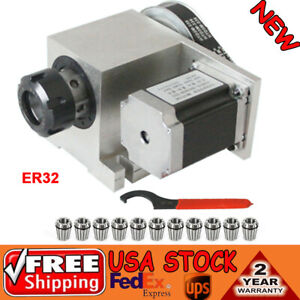New Cnc Rotary Axis 4th Axis Hollow Shaft Er32 Collet Chuck 3 20mm
