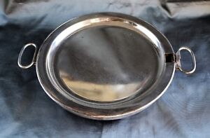 Old Sheffield Plate Warming Tray With Two Hinged Handles C 1820