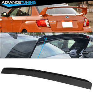 Fit 08 14 Subaru Wrx Top Gurney Flap Add on Trunk Spoiler Wing Matte Black