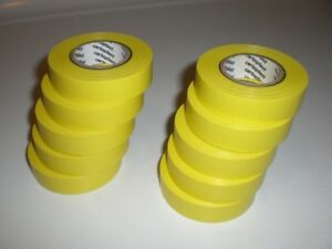 Lot Of 10 Yellow Certoplast 607 Car Auto Wire Harness Adhesive Pvc Tape 19mmx25m