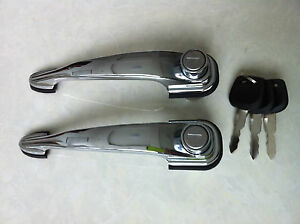 Porsche 356 A B C Sc 356a 356b 356c 356sc Out Side Chrome Lockable Door Handles