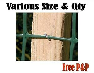 U Fencing Nails Galvanised Heavy Duty Staples Pointed Chicken Wire Barbed Wire