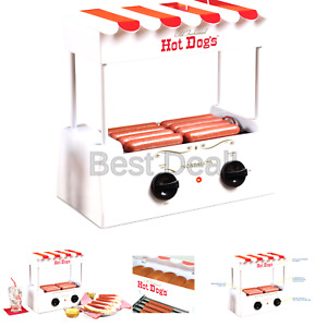 Nostalgia Hdr565 Hot Dog Roller And Bun Warmer White red One Size
