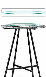 Glass Round Clothing Rack Topper 30 Diameter Tempered Glass