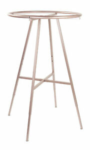 Round Clothing Rack Rose Gold 48 72 h Adjustable In 3 Increments