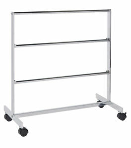 Chrome Storage Clothing Rack With Hanger Bars 3 Bars For Rackincluded