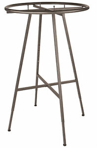 Round Clothing Rack Raw Steel 48 72 h Adjustable 3 Increments