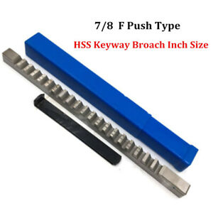 7 8 F Push Type Keyway Broach 7 8 Inch Size Hss Cutter Cnc Metalworking Machine