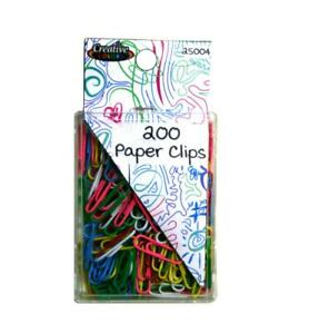 Creative Colors Paper Clips 200 Case Of 48
