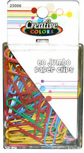 Creative Colors Jumbo Paper Clips 80 Case Of 48