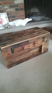 Large Wooden Pirate Treasure Chest Hope Trunk New