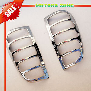 For 1997 2003 Ford F150 Chrome Taillight Covers Caps Lid Trim Bezels Trims 2 Pcs