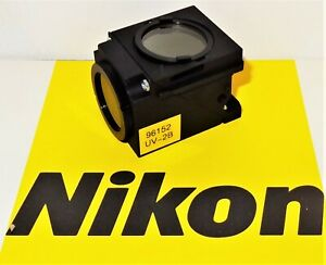 Nikon Uv 2b Fluorescent Microscope Filter Cube For E400 600 Te200 300