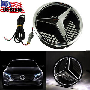 Sport Bright Led Car Front Grille Star Emblem Light For Mercedes Benz 2006 2013