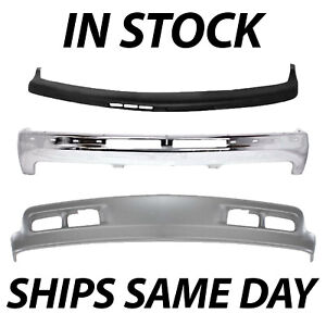 New Complete Full Front Bumper Kit For 1999 2002 Chevy Silverado Gmc Sierra 1500