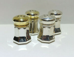 Cartier Sterling Silver Salt And Pepper Shaker Set Two Of Each