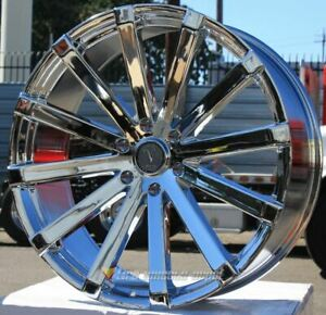 22 Inch Velocity 12 Chrome Wheels Tires Fits All 6 Lug Avalanche 6x5 5