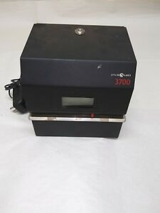 Pyramid 3700 Heavy duty Time Clock Document Stamp No Key