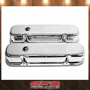 59 79 Pontiac 301 326 350 389 400 421 428 455 V8 Tall Steel Valve Covers Chrome