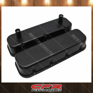 Fits 65 95 Chevy Bb Racing Valve Covers Powder Coated Matte Black Alumi W Tubes