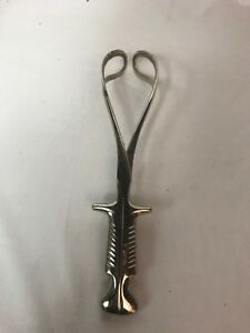 Vintage Medical Tool Stainless Steel Baby Birthing Forceps Obgyn