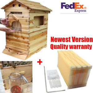 4pcs Upgraded Auto Honey Hive Beehive Frames Beekeeping Super Brood Box Usa