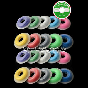 20 X Orthodontic Dental Continuous Elastolink Elastic Ultra Power Chain Colorful