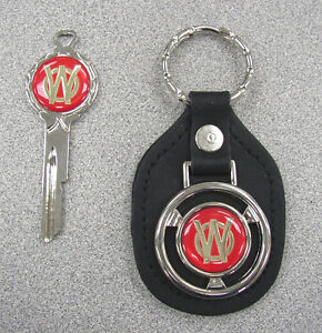 Vintage Willys Overland White Gold Classic 2 Pc Truck Briggs Stratton Key Set