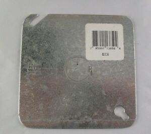 Qty 50 Steel City Electrical Junction Box Covers Steel 4 In Square 1 2 Ko 52c6