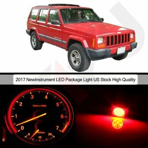 Red Led Package Dash Instrument Cluster Light Bulb For 1997 2001 Jeep Cherokee
