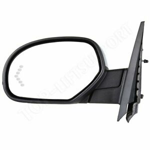 Driver Side Mirror Power Fold Memory Heat Puddle Signal Chrome For Chevy Gmc