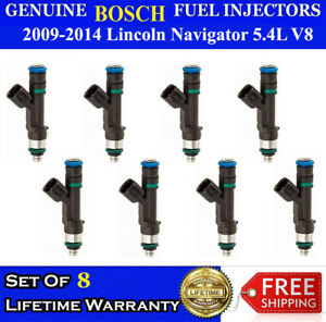 Genuine Bosch Set Of 8 Fuel Injectors For 2009 2014 Lincoln Navigator 5 4l V8
