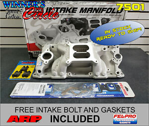 Edelbrock 7501 Rpm Air Gap Intake Sb Chevy W Free Arp Bolts And Felpro Gaskets