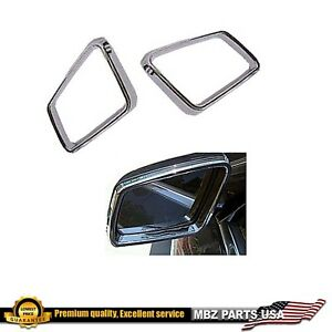 Chrome Side Mirror Ring Molding Luxury Look Sport Accessory Body Trim Cover New