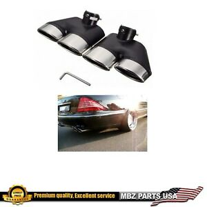 S Class Muffler Tips Amg S500 S430 2000 2006 Dual Exhaust Pipe System Rear Quad
