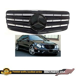 E Class Black Grille Gloss Black Star For E550 E63 E350 Mercedes 2007 2008 2009